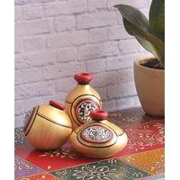 Light Gold Miniature terracotta Pots Set