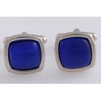 Tiekart men blue stone overlaid  cufflink