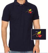 Hemmeya kannadiga navy blue colour polo kannada tshirt