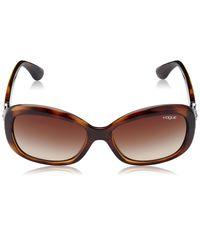 Vogue Gradient Butterfly Sunglasses (0VO2943SBW65613Small) (Dark Havana)