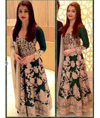 Aish Green Anarkali Gown