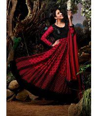 Asin Original Red/Black  Anarkali Dress
