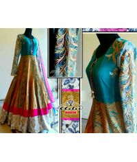 Bhagalpuri Silk Gown Dress