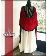 Black/White Anarkali Dress