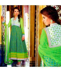 Stunning Green Anarkali Dress