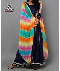 Blue Anarkali Dress