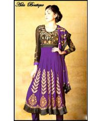 Stylish Purple /Black Anarkali