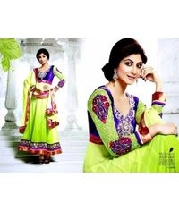 Shilpa Shetty Stylish Neon/Purple  Anarkali