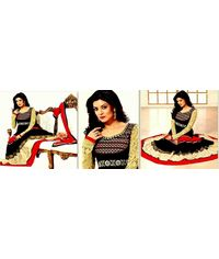 Sushmeta Sen Cream/Red/Black  Stylish Anarkali