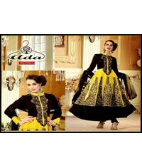 Stylish Yellow / Coffee  Anarkali