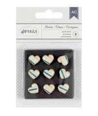 Push Pins - Stripe Heart