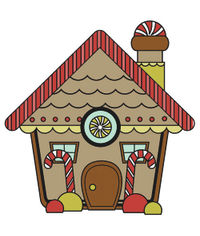 Gingerbread House - Mini Stamp