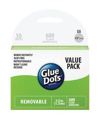 600 Clear Dots - Removable Glue Dots
