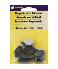 Round Magnets W/Foam Adhesive - 0.75""