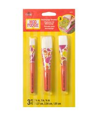 Mod Podge Short Handle  Brush Set -3 Pcs