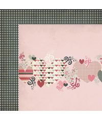 "Love Note Heartthrob - 25 Pcs of 12"" x 12"" Paper"