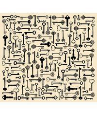 Creme Keys -Tissue Paper