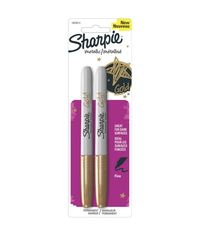 Gold - Sharpie Metallic Fine Point Permanent Markers 2/Pkg