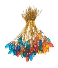 Transparent Multicolor - Light Bulb Ornaments 8mm 50/Pkg
