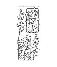 Flowers in Frame 3 - Peel Off Black Stickers