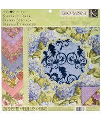"""Tim Coffey Cottage Garden Specialty 12"""" X 12"""" Paper Pad"""