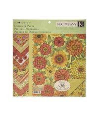 """Tim Coffey Cottage Garden Designer 12"""" X 12"""" Paper Pad"""