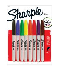 Sharpie Fine Point Permanent Markers 8/Pkg - Assorted Colors