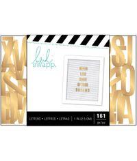 "Gold Sans Serif 161/Pkg - Letterboard Alphabet 1"""
