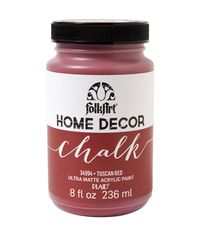 Tuscan Red - FolkArt Home Decor Chalk Paint 8oz