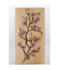 Cherry Blossom Wood Mounted Rubber Stamp