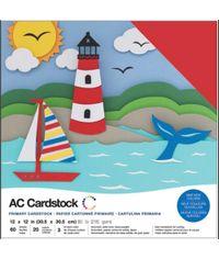 "Primaries - 12""X12"" Cardstock Pack"