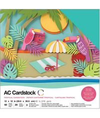 "Tropical - 12""X12""  Cardstock Pack"