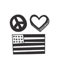 Peace and Love - Mini Stamp