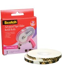 Scotch Advanced Tape Glider Refills 0.25 X36yd 2/Pkg