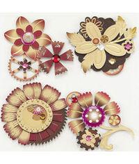 Steampunk Flower Stickers