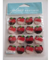 RED APPLE PHOTO CORNERS Stickers