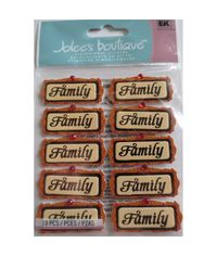 FAMILY WORD REPEATS Dimensional Stickers