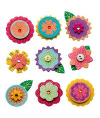 Layered Mini Flowers Stickers
