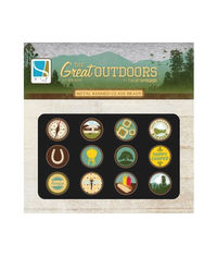 The Great Outdoors - Metal Rimmed Glass Brads