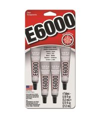 E6000 Multi-Purpose Adhesive 4/Pkg 0.18oz