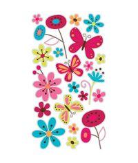 Butterfly Garden Glitter Sticker