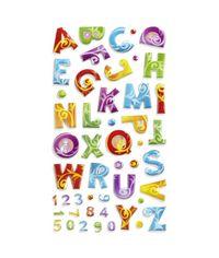 Colorful Flourish Puffy Alphabet Stickers