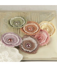 Softees Bonnet  - Flower Embellishments