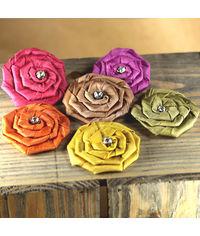 Allure Jewel Mix - Fabric Flower Embellishments