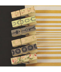 Tea-Thyme Collection - Canvas Covered Wood Clips