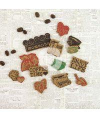 Coffee Break Cork Stickers 14/Pkg