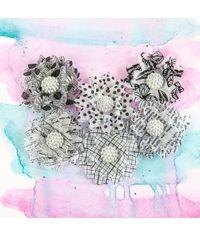 """Dice 2"""" - Vellum Flowers - 5/Pkg"""