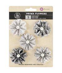"""Domino 2"""" - Vellum Flowers, 5/Pkg"""