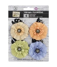 """Paper & Fabric Sprout Flowers 2.25"""", 4/Pkg"""