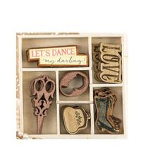 Debutante Laser-Cut Wood Icons In A Box
